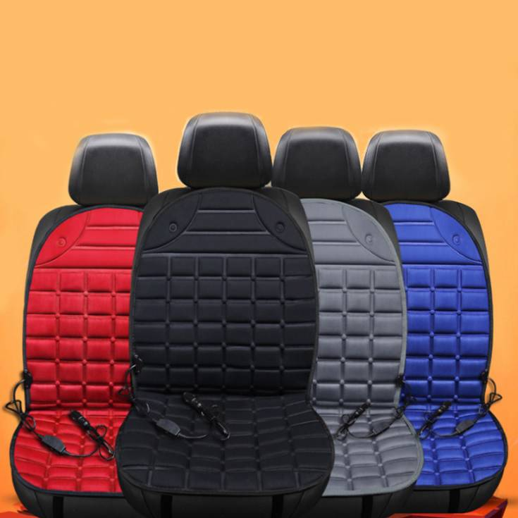 12v Electric Heating Car Seat Cover Bantal Penghangat Kursi Jok Mobil - 4 Warna
