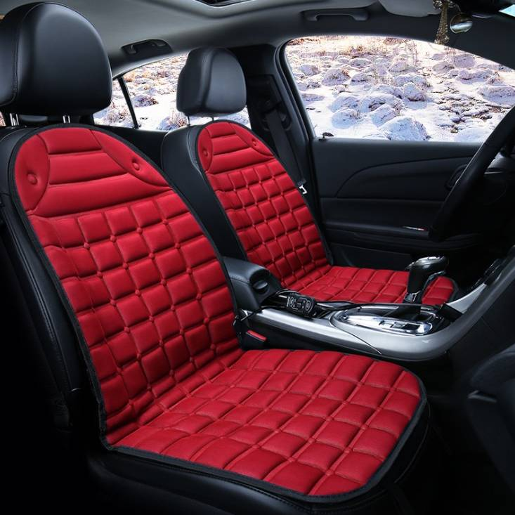 12v Electric Heating Car Seat Cover Bantal Penghangat Kursi Jok Mobil - 4 Warna3