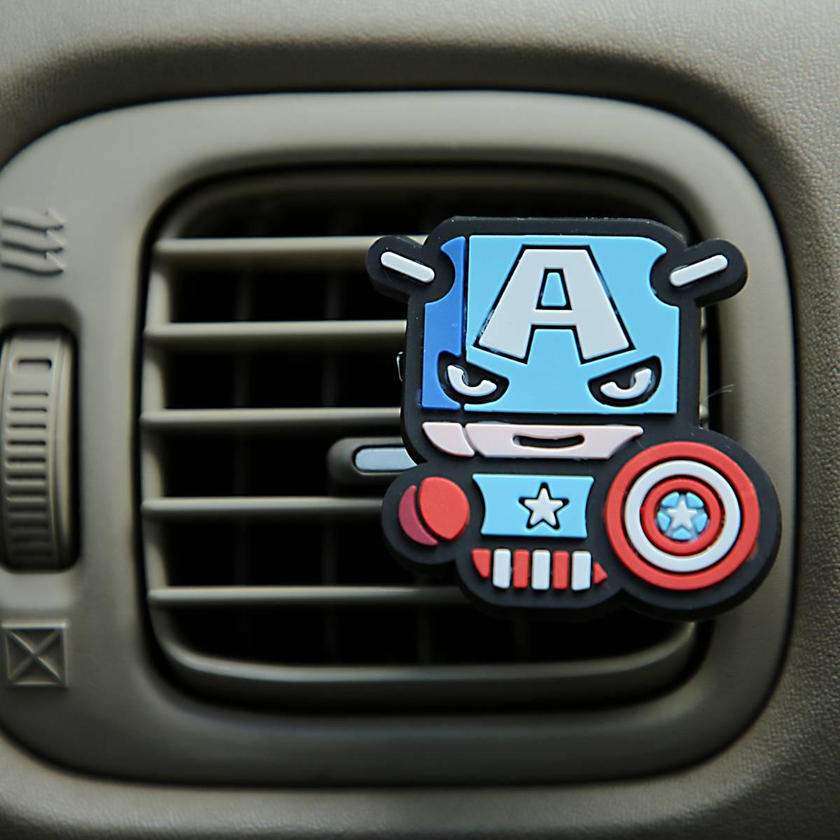 Sale - Car Perfume Vent Clip / Parfum Pewangi Mobil Superhero - Captain America2