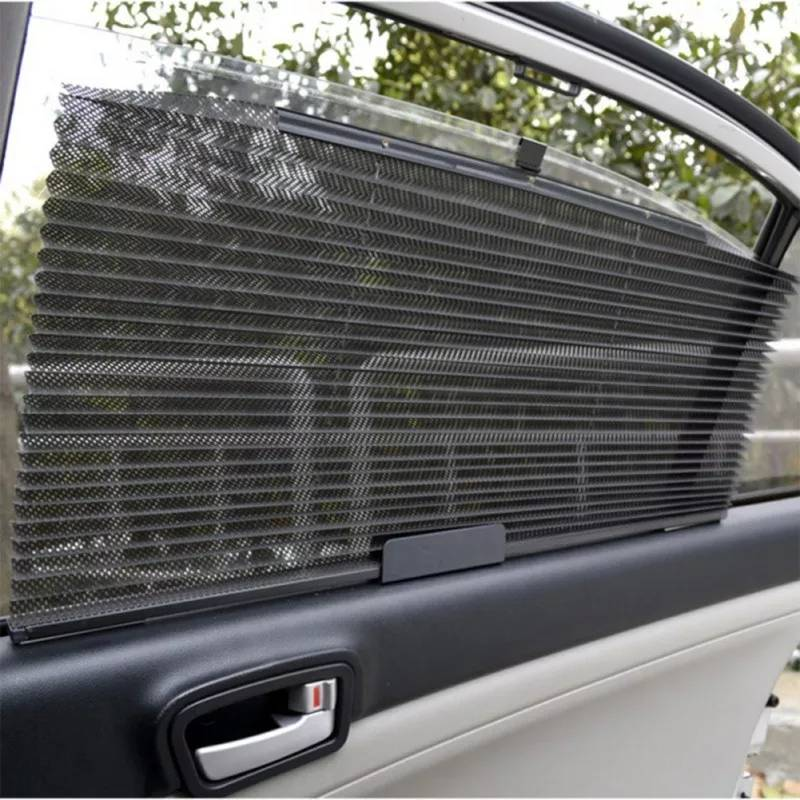 Tirai Jendela Kaca Gorden Samping Mobil Model Tarik - 3 Warna