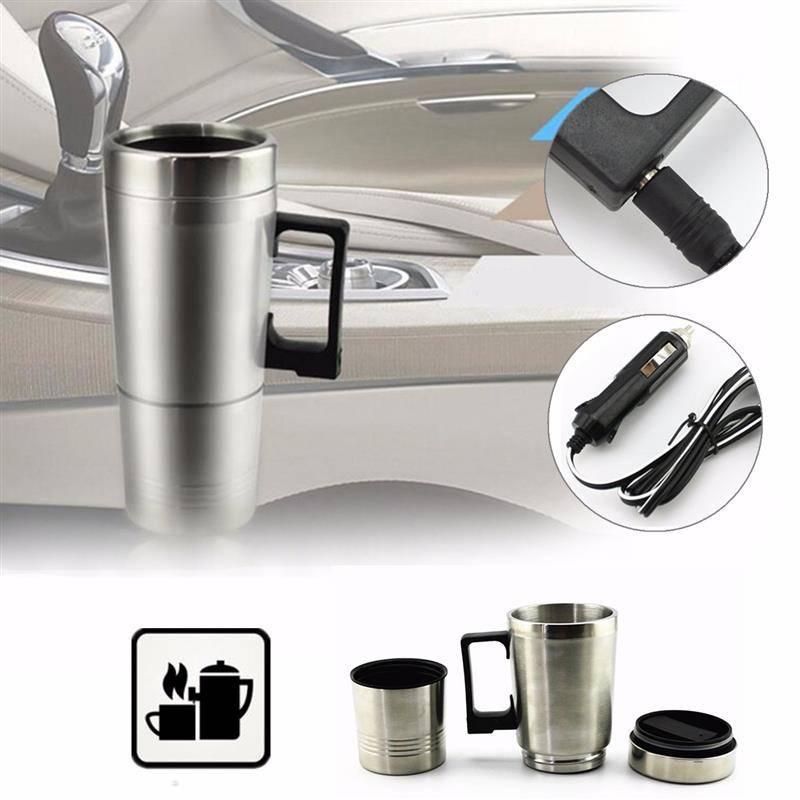 Stainless Steel Car Mug Charger / Hangat & Panas Portable Gelas Mobil0