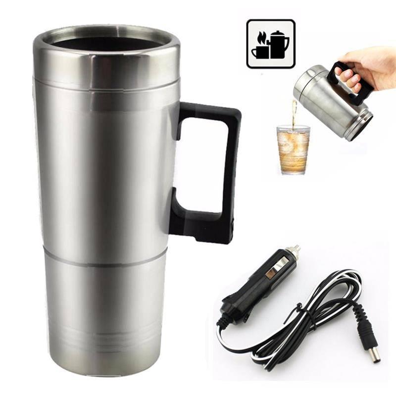 Stainless Steel Car Mug Charger / Hangat & Panas Portable Gelas Mobil1