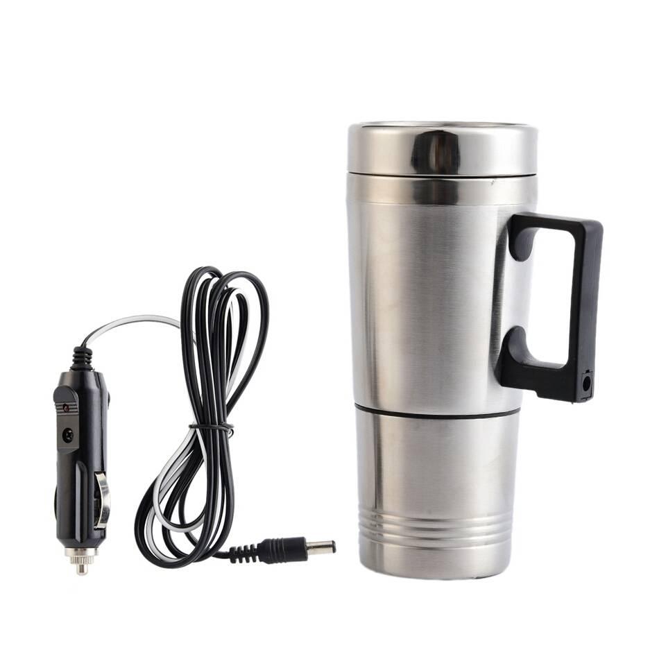 Stainless Steel Car Mug Charger / Hangat & Panas Portable Gelas Mobil3