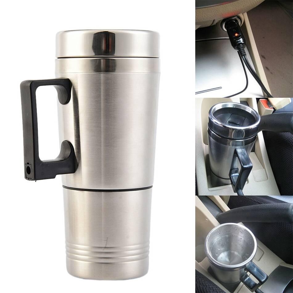 Stainless Steel Car Mug Charger / Hangat & Panas Portable Gelas Mobil4