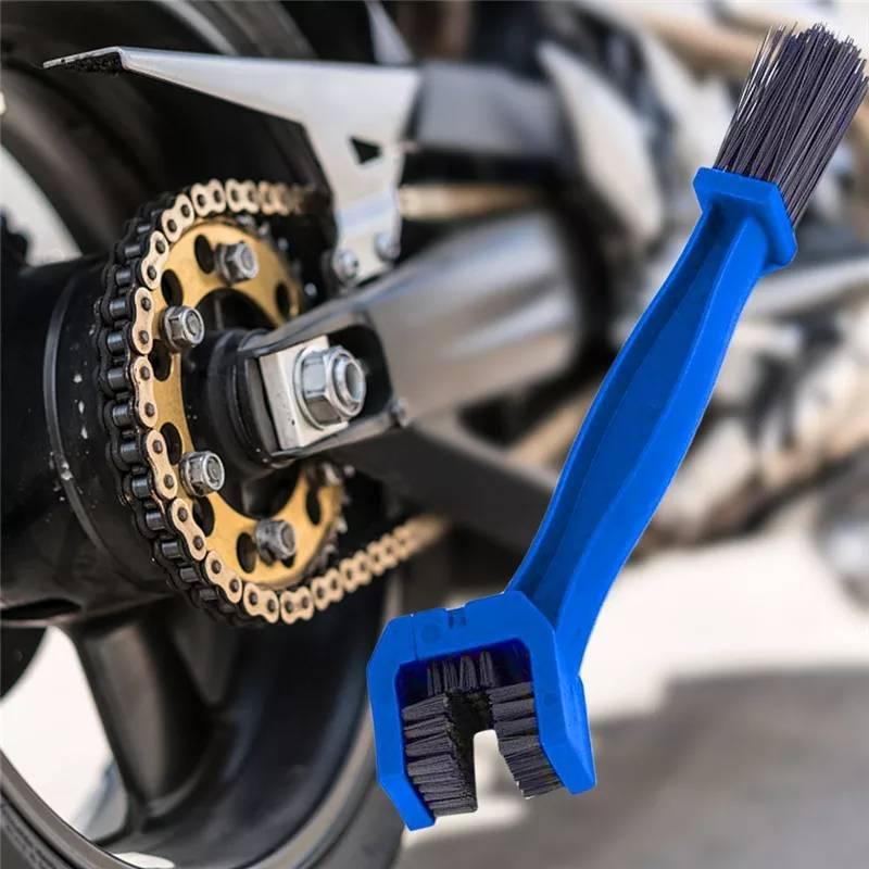Sikat Pembersih Rantai Motor dan Sepeda U Shape - Biru
