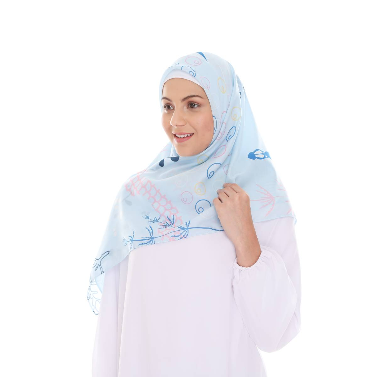 Hijab Print Voal Ultrafine Original (segi 4) Serenia Design