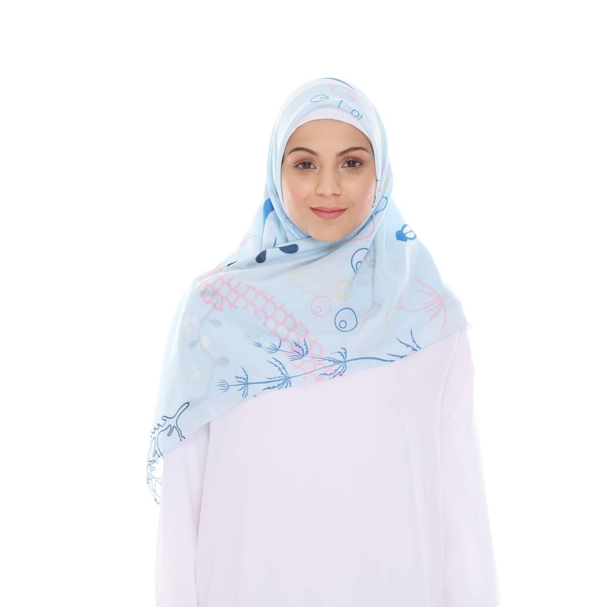 Hijab Print Voal Ultrafine Original (segi 4) Serenia Design1