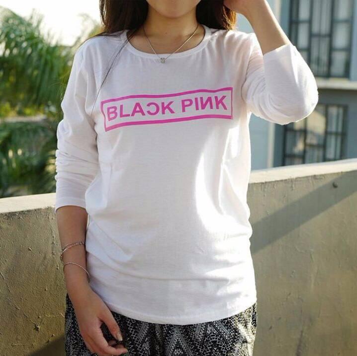 33b6463e Tumblr Tee / T Shirt / Kaos Lengan Panjang Black Pink   BEJO OUTLETZ ...