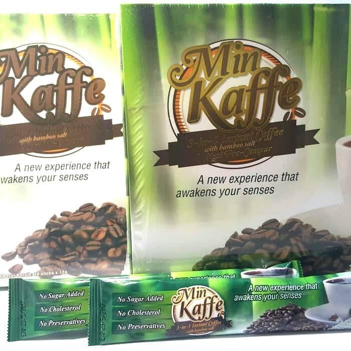 Kopi Instan Dengan Garam Buluh Korea, Min Kaffe - 20x12gr Pcs / Pack1