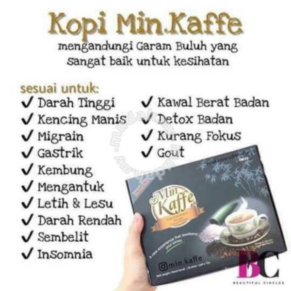 Kopi Instan Dengan Garam Buluh Korea, Min Kaffe - 20x12gr Pcs / Pack3