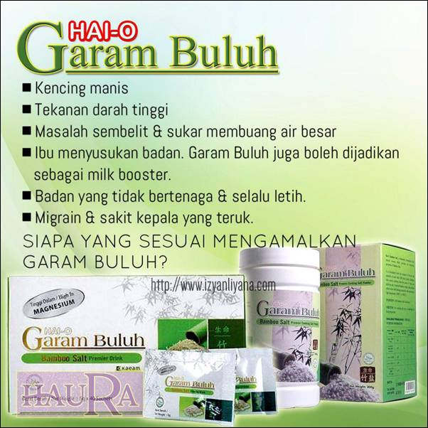Garam Buluh Minum - Bamboo Salt Drinking ( 30 * 5gr /box) Copy2
