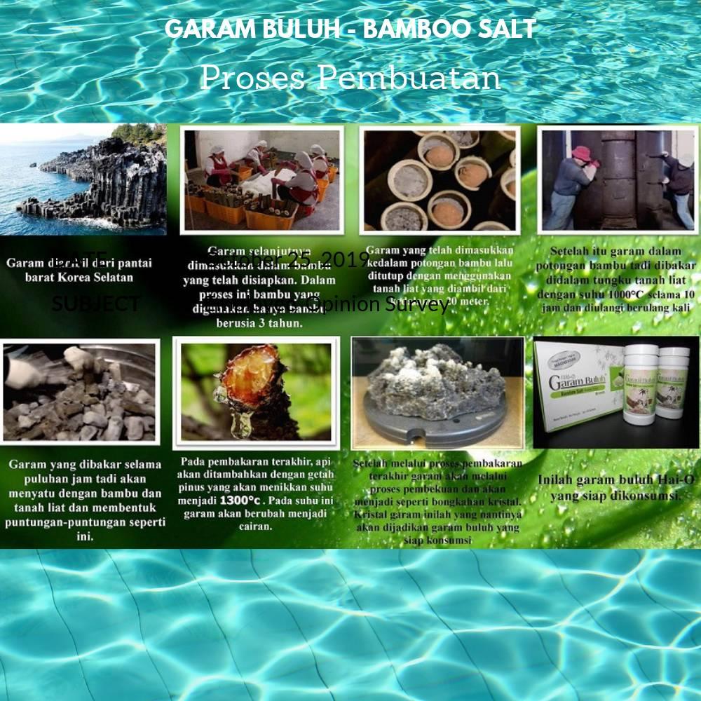 Garam Buluh Masak - Bamboo Salt Cooking @200 Gr/botol4