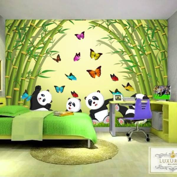 Wallpaper Custom Wallpaper 3d Wallpaper Dinding Anak Panda
