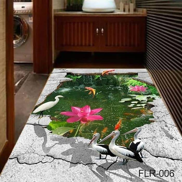Wallpaper Custom Wallpaper 3d Wallpaper Lantai Waterfall