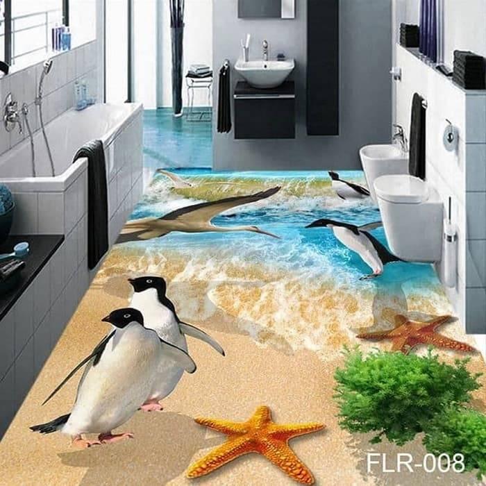 Wallpaper Custom Wallpaper 3d Wallpaper Lantai Ikan Koi Hijau