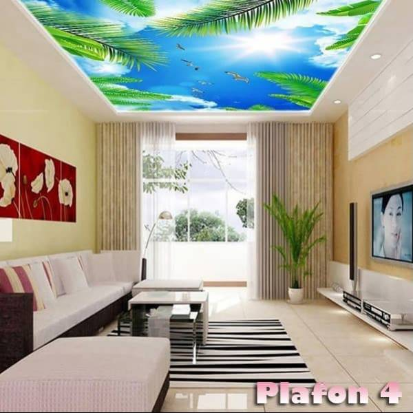 Wallpaper Custom Wallpaper 3d Wallpaper Plafon Langit Cerah 2