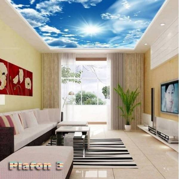Wallpaper Custom Wallpaper 3d Wallpaper Plafon Langit Cerah 3