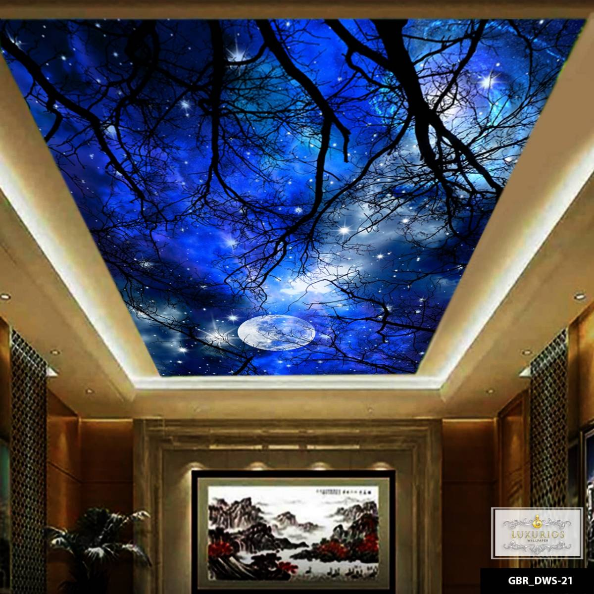 Wallpaper Custom Wallpaper 3d Wallpaper Plafon Langit Malam