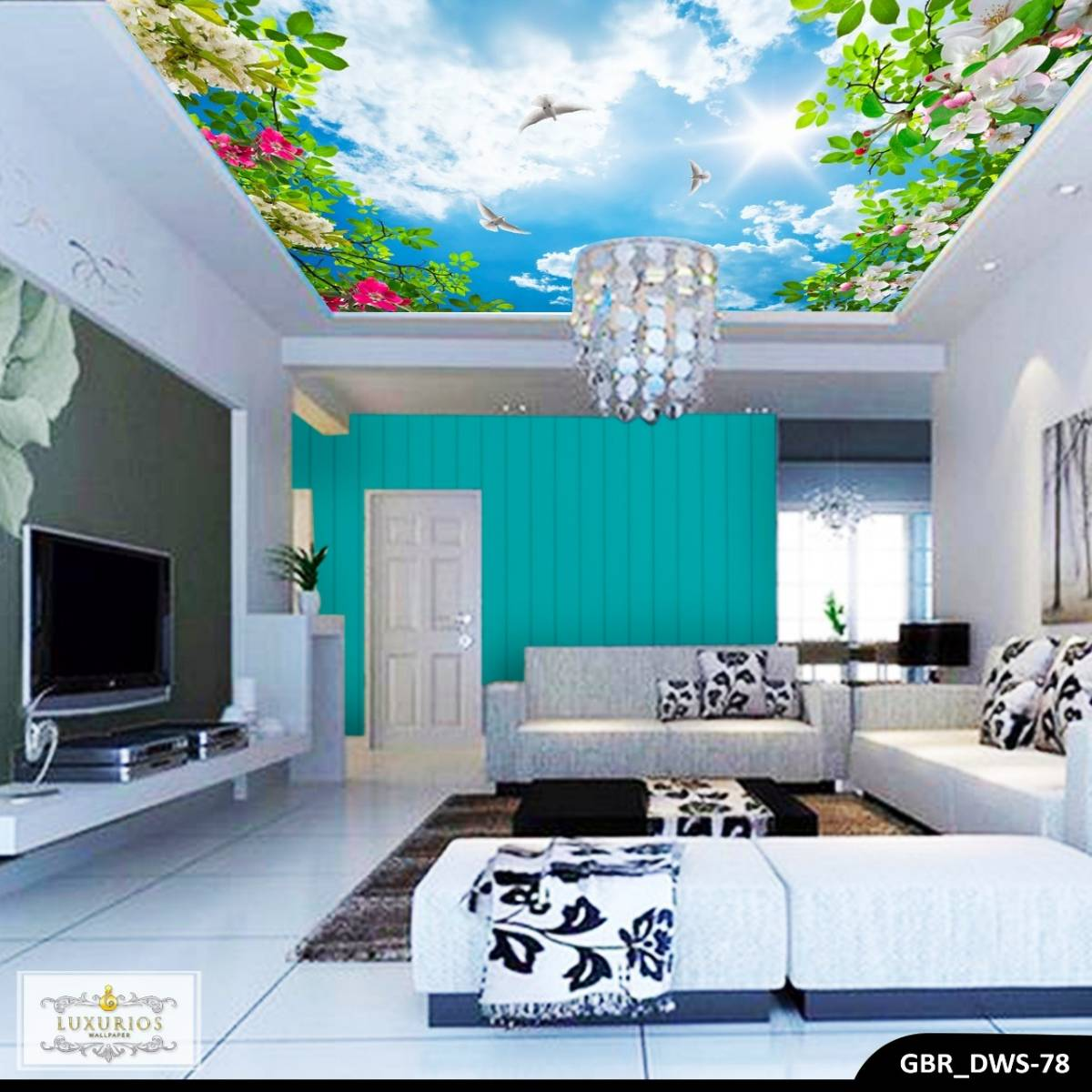 Wallpaper Custom Wallpaper 3d Wallpaper Plafon Langit Cerah 4