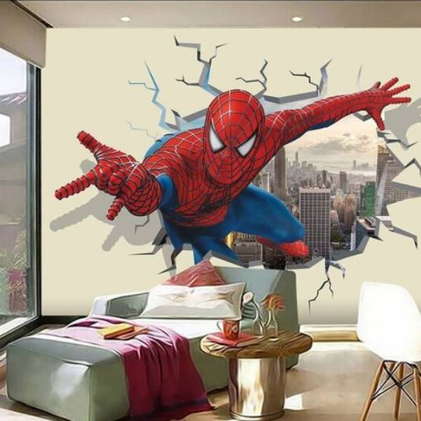 Wallpaper Custom Wallpaper 3d Wallpaper Dinding Anak Spiderman