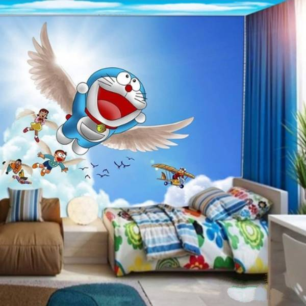 Wallpaper Custom Wallpaper 3d Wallpaper Dinding Anak Doraemon