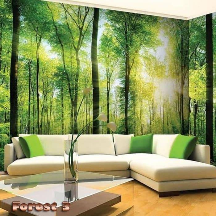 Wallpaper Custom Wallpaper 3d Wallpaper Dinding Hutan Forest 2