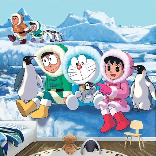 Wallpaper Custom Wallpaper 3d Wallpaper Dinding Anak Doraemon Nobita