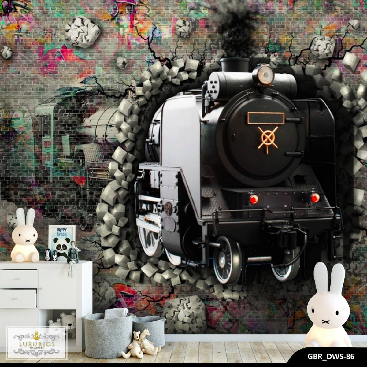 Wallpaper Custom Wallpaper 3d Wallpaper Dinding Kereta Train
