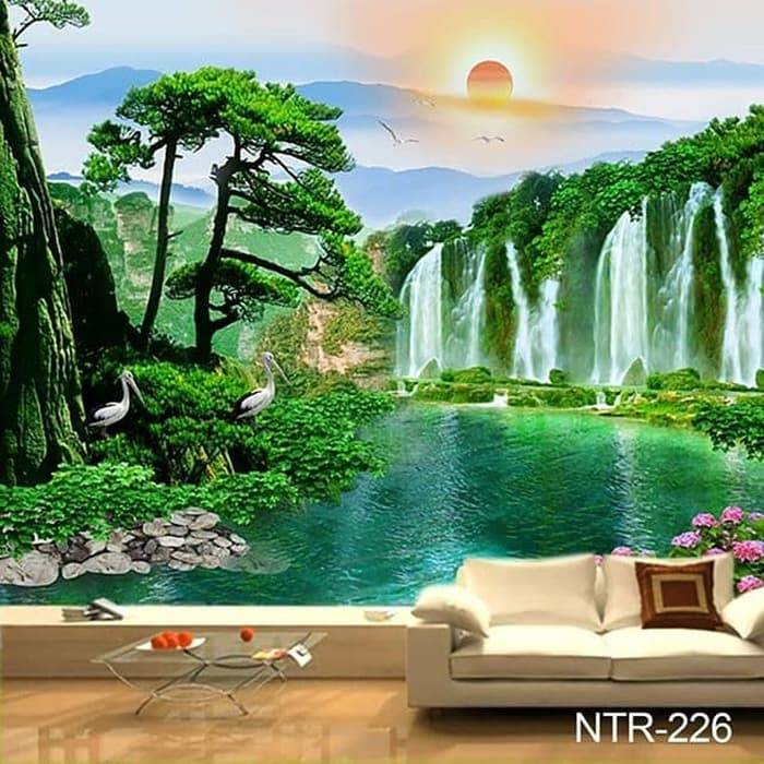 Wallpaper Custom Wallpaper 3d Wallpaper Dinding Pemandangan Alam Nature 2