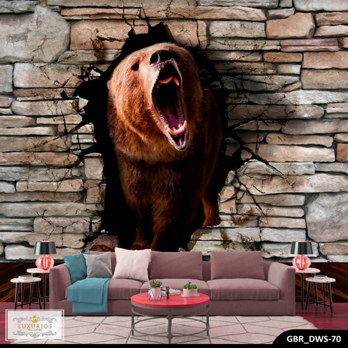 Wallpaper Custom Wallpaper 3d Wallpaper Dinding Beruang Bear0