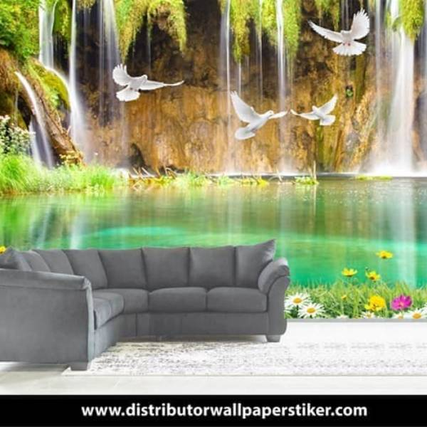 Wallpaper Custom Wallpaper 3d Wallpaper Dinding Air Terjun Waterfall 4