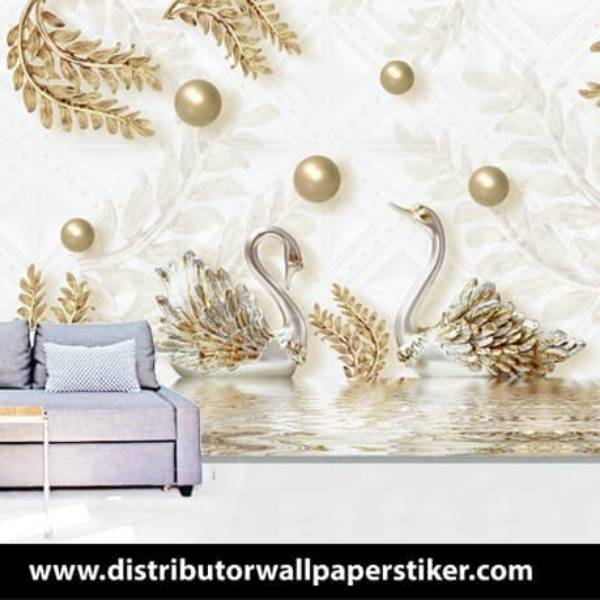 Wallpaper Custom Wallpaper 3d Wallpaper Dinding Angsa