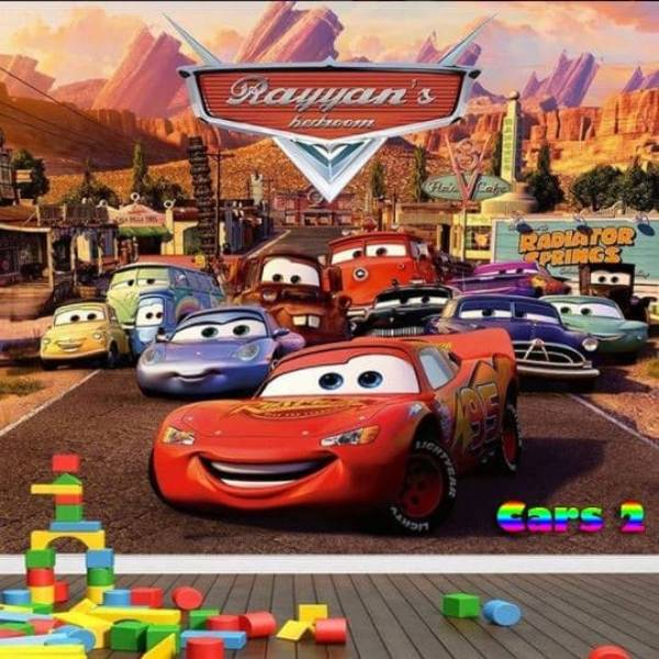 Wallpaper Custom Wallpaper 3d Wallpaper Dinding Anak Cars