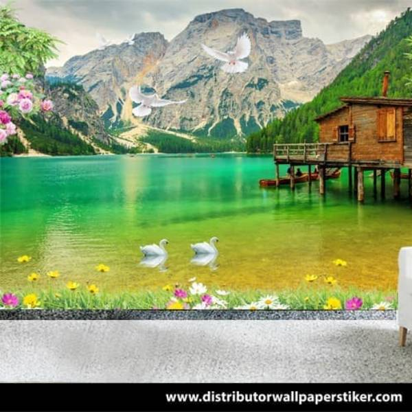 Wallpaper Custom Wallpaper 3d Wallpaper Dinding Pemandangan Alam Nature 5