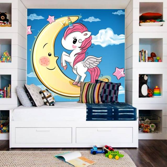 Wallpaper Custom Wallpaper 3d Wallpaper Dinding Anak Little Pony Unicorn