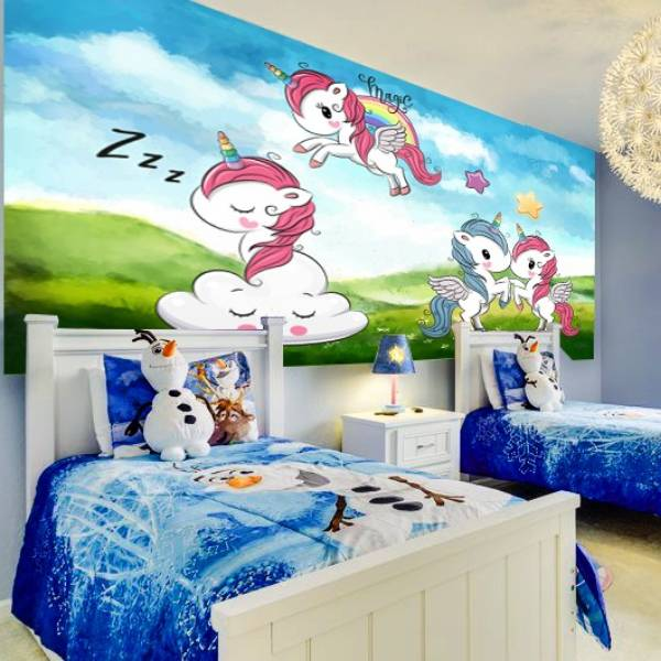 Wallpaper Custom Wallpaper 3d Wallpaper Dinding Anak Little Pony Unicorn1