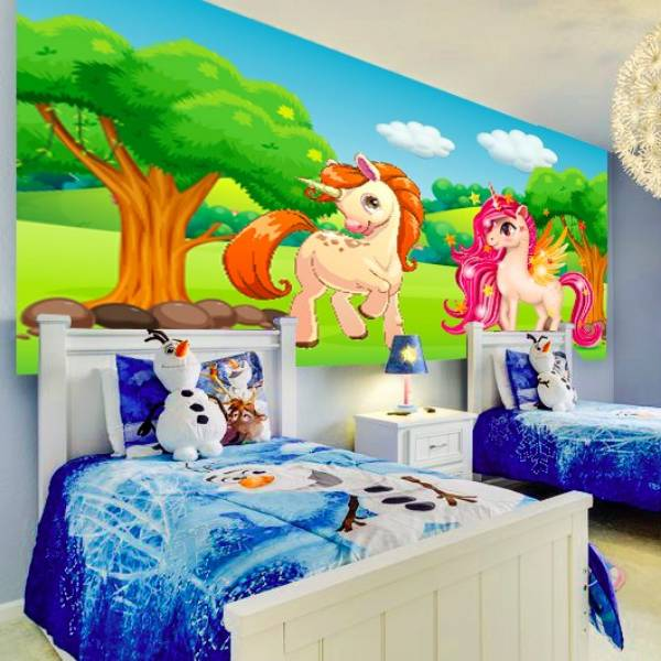 Wallpaper Custom Wallpaper 3d Wallpaper Dinding Anak Little Pony Unicorn2