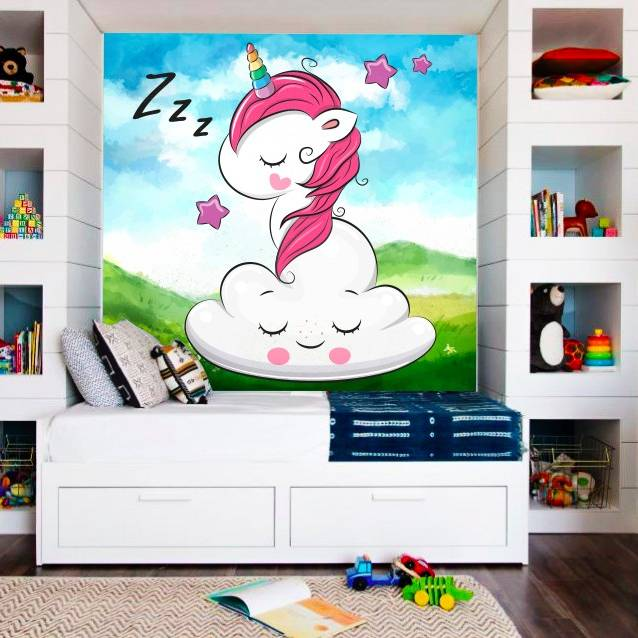Wallpaper Custom Wallpaper 3d Wallpaper Dinding Anak Little Pony Unicorn3