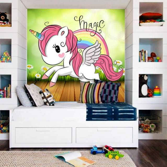 Wallpaper Custom Wallpaper 3d Wallpaper Dinding Anak Little Pony Unicorn4