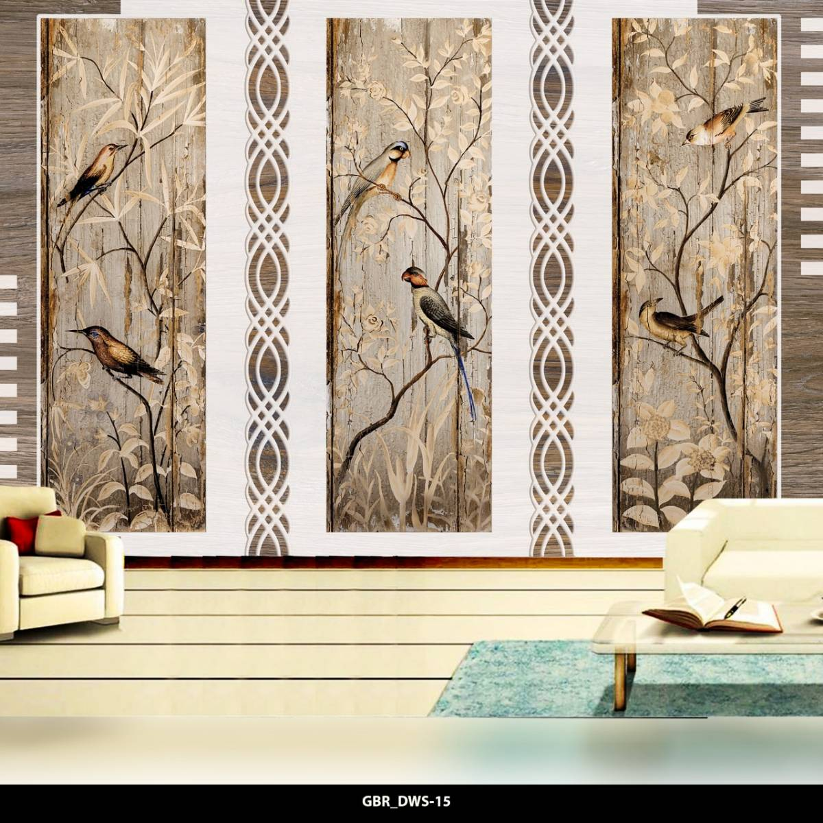 Wallpaper Custom Wallpaper 3d Wallpaper Dinding Burung Bird0