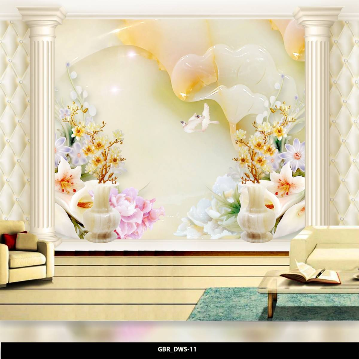 Wallpaper Custom Wallpaper 3d Wallpaper Dinding Bunga Flower0