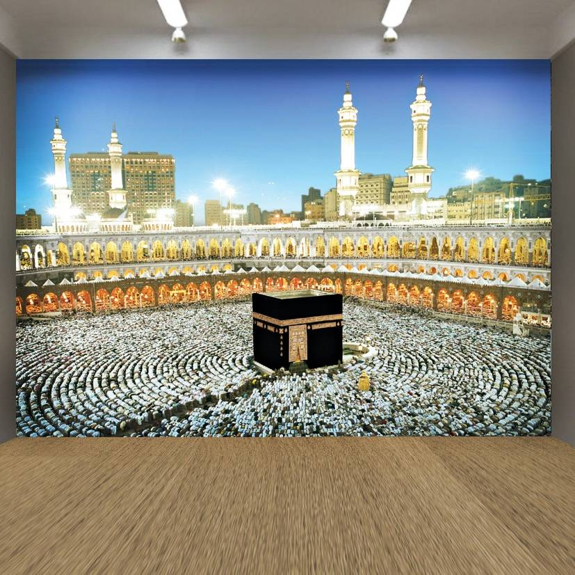 Wallpaper Custom Wallpaper 3d Wallpaper Dinding Ka'bah