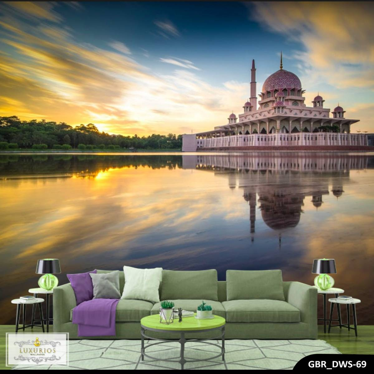 Wallpaper Custom Wallpaper 3d Wallpaper Dinding Masjid