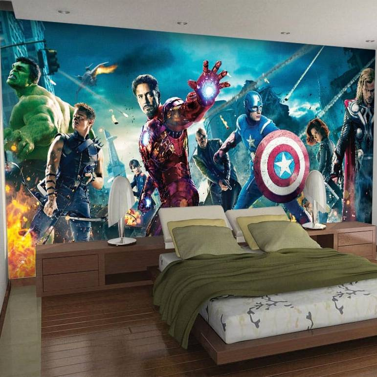 Wallpaper Custom Wallpaper 3d Wallpaper Dinding Avengers