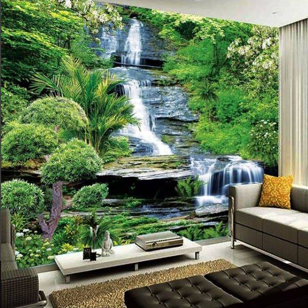 Wallpaper Custom Wallpaper 3d Wallpaper Dinding Air Terjun Waterfall 7