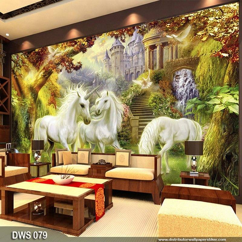 Wallpaper Custom Wallpaper 3d Wallpaper Dinding Kuda Putih