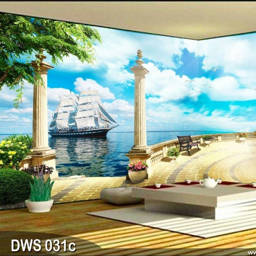 Wallpaper Custom Wallpaper 3d Wallpaper Dinding Kapal Laut0