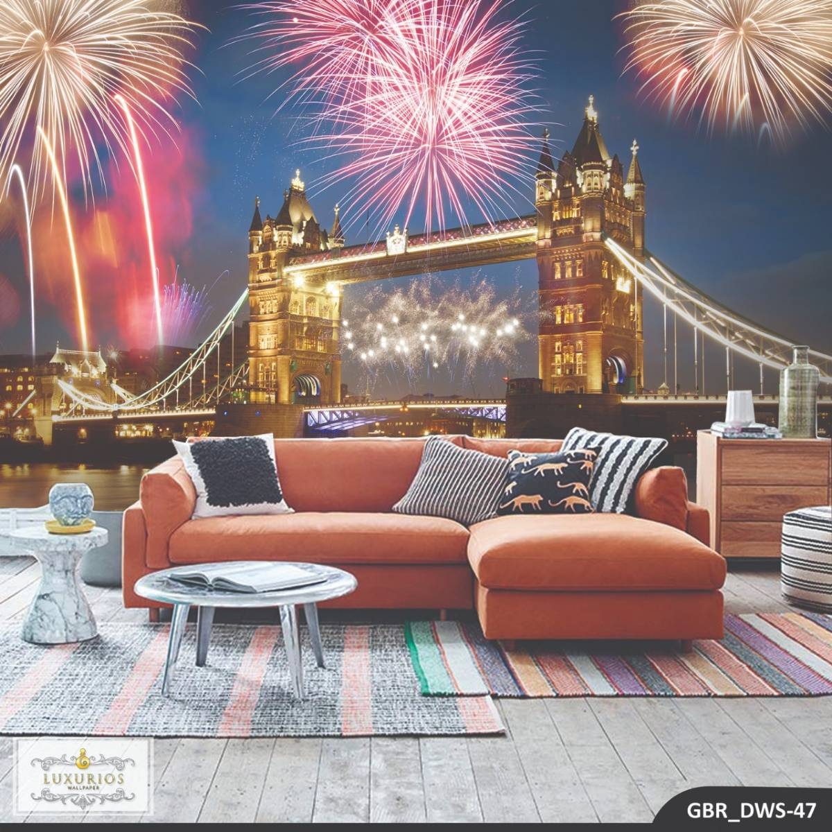 Wallpaper Custom Wallpaper 3d Wallpaper Dinding Tower Bridge London Firework