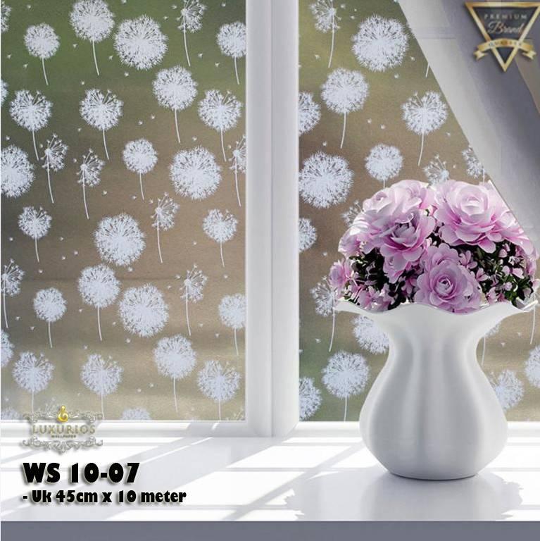 Window Sticker 45cm x 10m Stiker Kaca Motif Bunga Dandelion