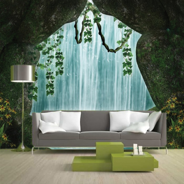 Wallpaper Custom Wallpaper 3d Wallpaper Dinding Air Terjun Waterfall 8